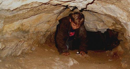 W Schronisku Posrednim koło Jaskini Olsztyńskiej w Sokolich Górach #cave #jaskinia #Jura #Krakowska