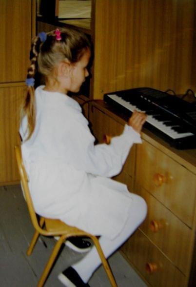 ...podobno miałam talent muzyczny... :D
