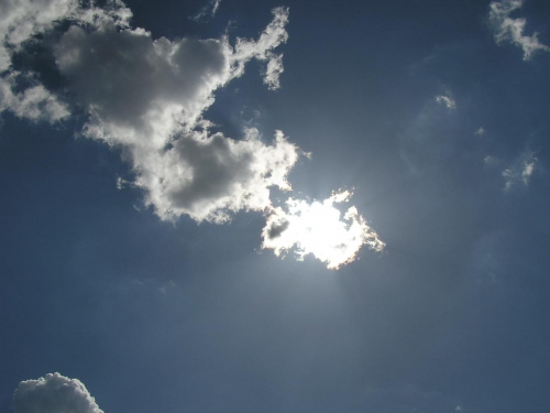 Shining #niebo #słońce #chmury