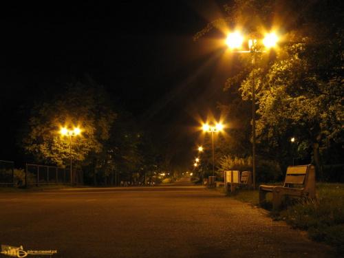 Promenada Niemena w Częstochowie nocą #promenada #noc #częstochowa