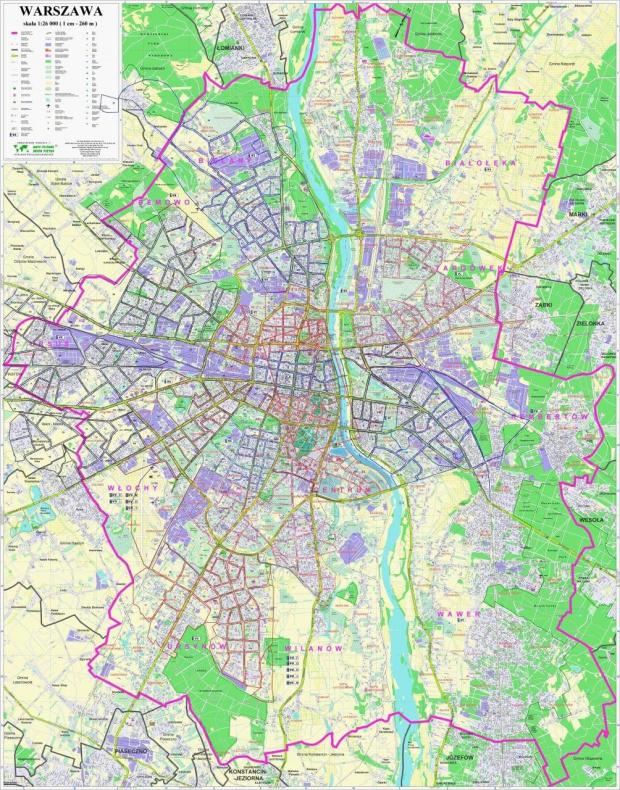 Mapa Warszawy #MapaWarszawy #mapa #PlanWarszawy #warszawa #rejonizacja #arcziblunt