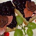 Sernik na kruchym cieście z jagodami.Przepisy na : http://www.kulinaria.foody.pl/ , http://www.kuron.com.pl/ i http://kulinaria.uwrocie.info #ciasto #sernik #jagody #słodkości #podwieczorek #jedzenie #kulinaria #gotowanie #PrzepisyKulinarne