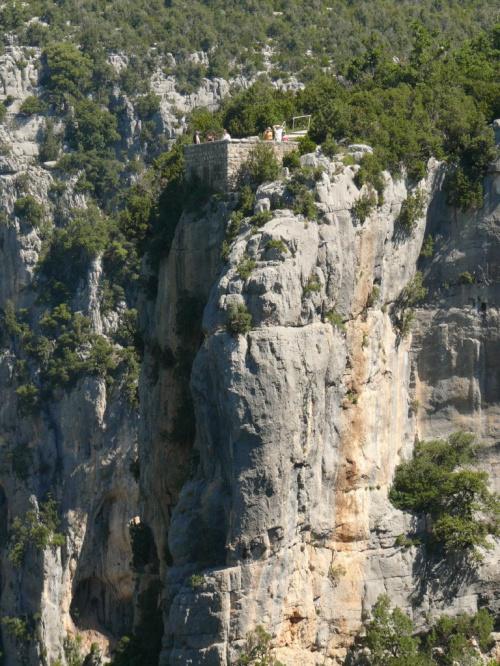 Grand Canyon du Verdon, jeden z punktów widokowych - Balcons de la Mesia #CanionDuVerdon