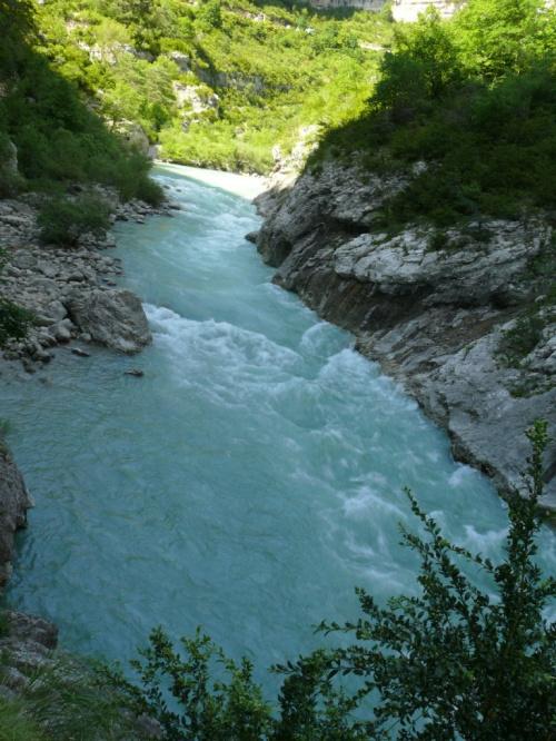 Tu już rzeka płynie wartko #CanionDuVerdon
