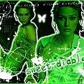 #czerń #zieleń #biel #sweet #diablo #grafika #dziewczyny
