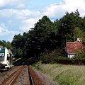 SA103-006 z pociągiem rel. Krzyż Wlkp. - Kostrzyn dojeżdża do Starych Bielic. 30.08.08r. #szynobus #pociąg #sa133 #pkp