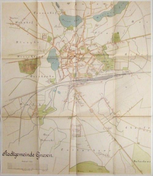 Gniezno 1911-1913 skala 1:5000